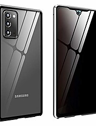 cheap -security lock anti-spy galaxy s21 plus 6.7 inch case,anti-collision aluminum bumper double-sided tempered glass built-in privacy screen protector magnetic adsorption (galaxy s21plus, silver)