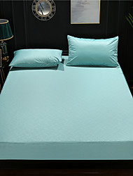 cheap -Cross border 3D embossed Taiwan bed package solid color waterproof Tencel mattress protective cover