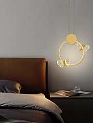 cheap -LED Wall Light 45 cm Dimmable Globe Design Circle Design Flush Mount Lights Acrylic Artistic Style Formal Style Modern Style Black Artistic Nordic Style 220-240V