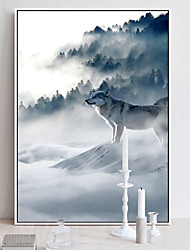 cheap -Wall Art Canvas Prints Painting Artwork Picture Animal Landscape Wolf Home Decoration Decor Rolled Canvas No Frame Unframed Unstretched
