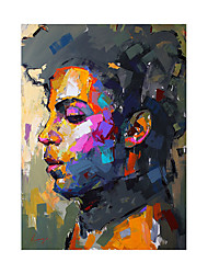 cheap -Oil Painting Handmade Hand Painted Wall Art Vertical Modern Abstract Figure Posters Home Decoration Decor Rolled Canvas No Frame Unstretched