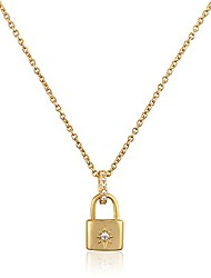cheap -gold coin necklaces for women , dainty cubic zirconia coin necklace with 14k gold plated, stackable pendant necklace for women/girls