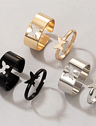 cheap -Ring Geometrical Alloy Butterfly Elegant Fashion Holiday 1 set One Size