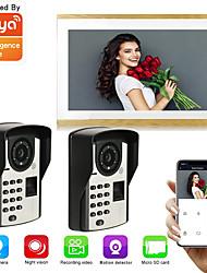 cheap -Tuya Smart Wired 10 inch Monitor Video Doorbell 1080P WIFI Camera Two Way Intercom Unlock Record Snapshot PIR Motion Detection
