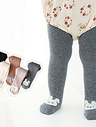cheap -Baby Unisex Tights 1pc Blushing Pink Grey Black Solid Color Animal Cotton Daily Wear Casual Socks 6 Months+