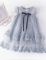 cheap -Kid's Little All Dress Solid Color Bow Picture color Picture color 2 Picture color 3 Chic & Modern Elegant & Luxurious Dresses