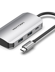 cheap -VENTION Support Power Delivery Function TNBHB USB 3.0 USB C to USB 3.0 USB 3.0 USB C USB Hub 5 Ports For Windows, PC, Laptop