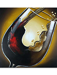 cheap -Oil Painting Handmade Hand Painted Wall Art Mintura Modern Abstract Red Wine Glass Home Decoration Decor Rolled Canvas No Frame Unstretched