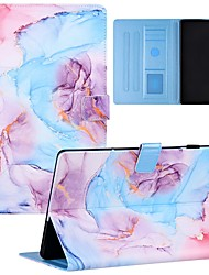 cheap -Case For Huawei Tablets Full Body Case Huawei Mediapad T5 10 Shockproof Dustproof Graphic Flower Marble PU Leather