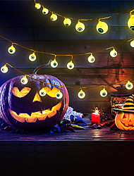cheap -Halloween String Lights 40/20/10 Pcs LED Colorful Halloween Eyeball String Lights- 19.7Ft/9.85Ft/3.28Ft  Battery Operated  Halloween String Lights for House Garden Yard Window Porch and Halloween Party Decor