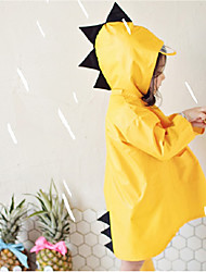 cheap -Kids Unisex Jacket & Coat 1pc Long Sleeve Yellow Blushing Pink Green Solid Color Dinosaur Rainy Days / Wet Road Casual Daily 1 year+