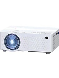 cheap -Factory Outlet A6 LCD Projector Built-in speaker WIFI Projector Keystone Correction Manual Focus 640x360 3000 lm Compatible with iOS and Android USB
