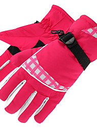 cheap -Ski Gloves Snow Gloves for Women Thermal Warm Waterproof Windproof PU Leather Full Finger Gloves Snowsports for Cold Weather Winter Skiing Snowboarding Cycling