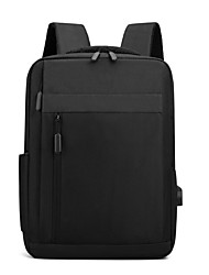 cheap -Commuter Backpacks Nylon Fiber Solid Color for Men for Women for Business Office Waterpoof