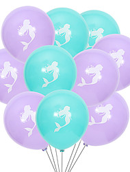 cheap -10 Inch 2.2g Mermaid Latex Ball 10 Packs Birthday And Wedding Decoration