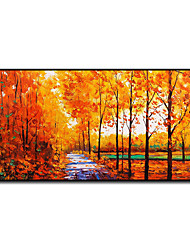 cheap -Oil Painting Handmade Hand Painted Wall Art Mintura Modern Abstract Trees Landscape Home Decoration Decor Rolled Canvas No Frame Unstretched