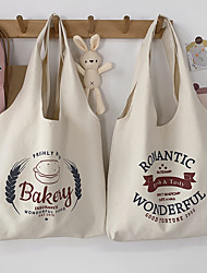 cheap -Canvas Shoulder storage bag back to school Halloween goody bag bakey basic grocery shopping cloth book tote  39*35 cm