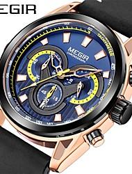 cheap -MEGIR Men's Dress Watch Analog Quartz Sporty Outdoor Calendar / date / day Chronograph Noctilucent / Two Years