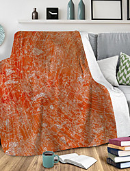 cheap -Digital printed blanket flannel double layer thick air conditioning lunch blanket sand gold