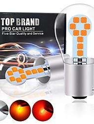 cheap -2PCS P21W BA15S BAY15D P27W 1157 1156 S25 3030 18SMD Car Backup Reserve Light turn Brake Bulb CANBUS Daytime Running Light
