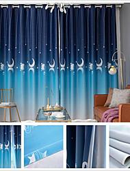 cheap -Window Drapes Curtain Window Treatments 2 Panels Room Darkening Sky Galaxy for Living Room Bedroom Patio Sliding Door