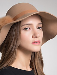 cheap -Wool Hats with Solid 1pc Wedding / Party / Evening Headpiece