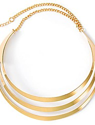 cheap -african choker collar necklace gold stainless steel chunky bib statement necklaces open choker necklace jewelry set for women and girls