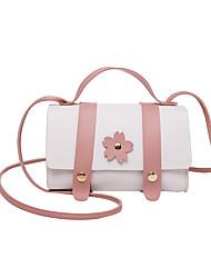 cheap -Women's Bags PU Leather Crossbody Bag Flower Fashion Daily Date Handbags Messenger Bag Blue Yellow Blushing Pink Black