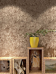 cheap -Wallpaper Wall Covering Sticker Film Wood Embossed Faux 3D Non-woven Fabric Home Decor 53*1000cm