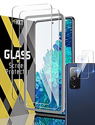cheap -[2 + 2]  tempered glass screen protector for samsung galaxy s20 fe 4g/5g 6.5 inch, camera lens film - alignment frame easy installation - 9h hardness - work most cases - 2021 upgraded version