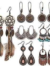 cheap -bohemian vintage drop dangle earrings - boho earrings set statement earrings national style alloy long boho dangle earrings for women girls(1 pair)