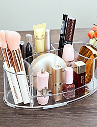 cheap -Acrylic Multi-function Makeup Box 7 Lattices Makeup Brush Holder Pencil Holder for Nail Polish Organizer Cosmetics Storage Box