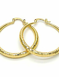 cheap -women's 4mm wide small medium large 40-60mm real 14k yellow gold layered round big chunky gold diamond cut thick hoop tube earrings (40mm & 60mm (1 pair each))