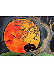 cheap -Halloween Oil Painting Handmade Hand Painted Wall Art Asbtract Landscape Home Decoration Decor Stretched Frame Ready to Hang