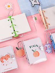 cheap -Cartoon Transparent Journal Notebook back to school gift office Diary Planner Agenda Sketchbook Suitable 17.5*10.5cm