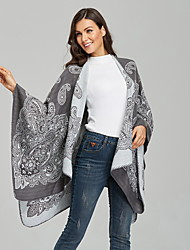 cheap -Cross-Border Fork Shawl For European And American Ladies Ethnic Style Cashmere Warm Multifunctional Cloak Air Conditioning Room Blanket 135*175cm