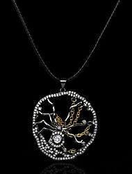 cheap -Women's Clear AAA Cubic Zirconia Pendant Necklace Retro Spiders Statement Artistic Gothic European Brass Black 50 cm Necklace Jewelry 1pc For Halloween Street Festival