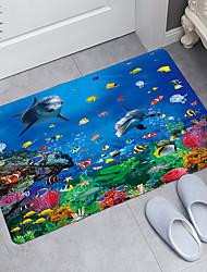 cheap -Smiling Dolphin Series Digital Printing Floor Mat Modern Bath Mats Nonwoven / Memory Foam Novelty Bathroom