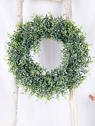 cheap -Artificial Wreaths Silk Peony Flowers Round Heart Simulation Garland For Wedding Party Decoration