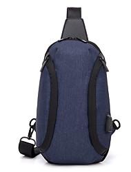 cheap -Men's Bags Polyester Nylon Sling Shoulder Bag Zipper Daily Outdoor 2021 Tote Baguette Bag Blue Black Coffee