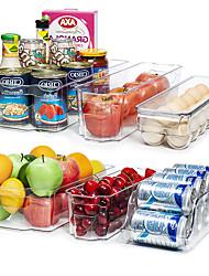 "cheap -Refrigerator Organizer Bins Clear Plastic Bins for Fridge Freezer Kitchen Cabinet Pantry Organization BPA Free Fridge Organizer 12.5"" Long Clear"