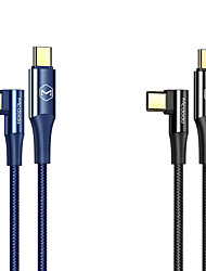 cheap -USB C Cable Braided High Speed Quick Charge 5 A 2.0m(6.5Ft) 1.2m(4Ft) Nylon Aluminium Alloy For Samsung Xiaomi Huawei Phone Accessory