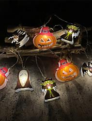 cheap -Halloween String Light Pumpkin Bat Ghost Shape 2M 10LEDs Battery-Operated Fairy Lights Halloween Party Home Garden Room Decoration Lamp