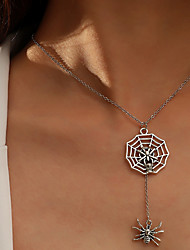 cheap -Women's Party Halloween Daily Spider Spider web Silver Necklace