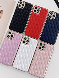 cheap -Phone Case For Apple Back Cover iPhone 12 Pro Max 11 Pro Max Shockproof Dustproof Solid Colored PU Leather