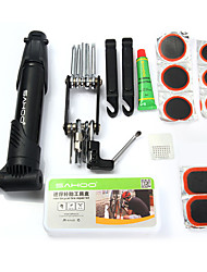 cheap -Sahoo Multifunction 15 in 1 kit functions Cycling Bicycle Tools Bike Flat Tire Repair Kit Tool Set with Pouch Pump