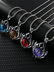 cheap -Men's Necklace Friends Modern Punk European Folk Style Alloy Blue Purple Yellow Red 60 cm Necklace Jewelry 1pc For Street Festival