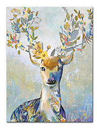 cheap -Oil Painting Handmade Hand Painted Wall Art Mintura Modern Abstract Sika Animal Picture Home Decoration Decor Rolled Canvas No Frame Unstretched