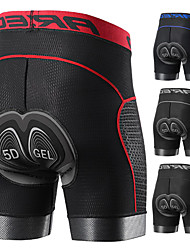cheap -Arsuxeo Men's Cycling Underwear Under Shorts 5D Gel Spandex Chamois Winter Summer Bike Padded Shorts Mountain Bike Shorts Bottoms Breathable Sweat Wicking Sports Solid Color Sports Clothing MTB Liner