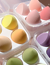 cheap -4 Pieces Sponge for Makeup Beauty Blender with Box Foundation Powder Blush Make Up Tool Kit Beauty Egg Makeup Sponge Cosmetic Puff Holder